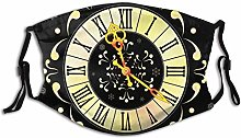 Face Guard Mouth Guard Clock and Snowflakes