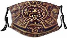 Face Guard Mouth Guard Mayan Clock Old Ancient