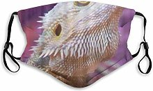Face Mask Cover Cool Bearded Dragon Lizards Animal