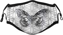 Face Scarf Animal Butterfly On Geometric Fragments