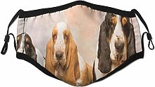 Face Scarf Animal Dog Three Basset Hound Dog