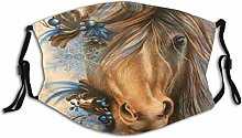 Face Scarf Animal Horse Balaclava Unisex Reusable