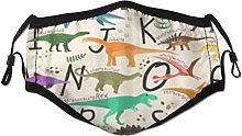 Face Scarf Animal Learning Alphabets Dinosaurs Abc