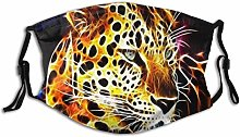 Face Scarf Animal Leopard Paint Balaclava Unisex