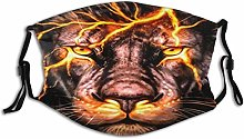 Face Scarf Animal Lion Balaclava Unisex Reusable