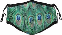 Face Scarf Animal Peacock Feather Balaclava Unisex