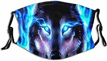 Face Scarf Animal Wolf Balaclava Unisex Reusable