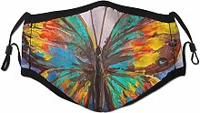 Face Scarf Butterfly Oil Painting Abstract Animal