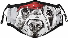 Face Scarf Cartoon Funny Animal Lonely Dog With