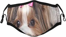 Face Scarf Christmas Dog Spaniel Cute Terrier