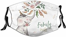 Face Scarf Cute Baby Elephant Nursery Animal