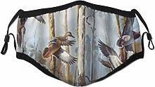 Face Scarf Mallard Duck Flying Wildlife Animal