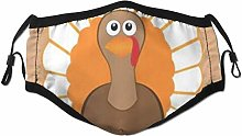 Face Scarf Orange Animal Thanksgiving Day Turkey