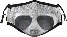Face Scarf Sloth Hipster Jungle Animal With