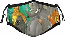 Face Scarf Wild Animal For Kids Cartoon Elephants