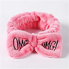 Face Wash Headband Cute 3D Embroidered Bow Coral