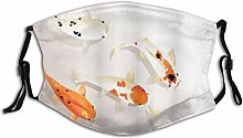 Facial Mask Cover Animal Traditional Koi Carps