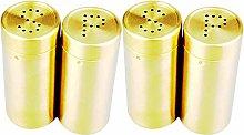 Facibom 4Pc Gold Spice Jar Condiment Set Kitchen
