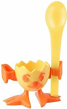 Fackelmann Cup and Egg Spoon Chicky of Plastic,