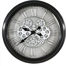 Factona Glass Wall Clock With Anthracite And