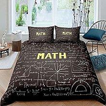 Fadaseo Duvet Cover Brown Background Math Formula