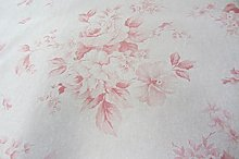 Faded Roses French Linen Red/Pink 140cm Wide