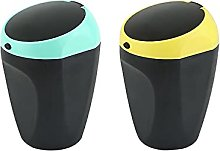Faderr 2pcs Car Auto Garbage Trash Can Automotive