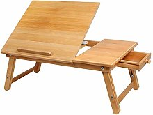 FAEIO Laptop Desk Bamboo Foldable Laptop Bed Table