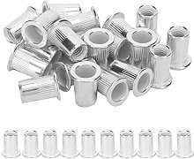 Fafeicy 200pcs Aluminum Rivet Nut, Threaded Insert