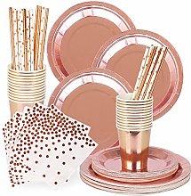 FafSgwq Paper Cup Drinking Straw Dish Tableware