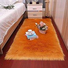FAGavin Orange Square Plush Roundness Non-slip,