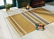 Fair Trade Indian Yellow and Brown Patterned