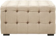 Fairborn Footstool ClassicLiving Upholstery: Beige