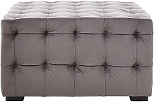 Fairborn Footstool ClassicLiving Upholstery: Grey