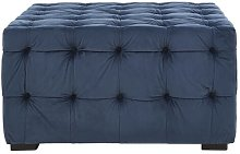 Fairborn Footstool ClassicLiving Upholstery: Navy