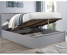 Fairmont Grey Wooden Ottoman Storage Bed Frame -