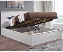 Fairmont White Wooden Ottoman Storage Bed Frame -