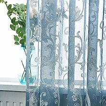FairOnly Tulle Embroidered Curtain for Kitchen
