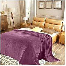 FAIRWAYUK Plain Mink Throw Blanket Purple, Super
