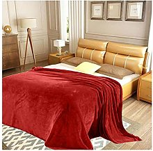 FAIRWAYUK Plain Mink Throw Blanket Red, Super Soft