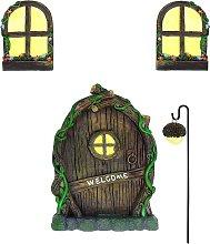 Fairy Door and Windows for Trees Decor with Bonus