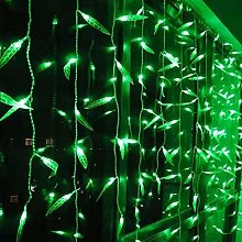 Fairy Light,Green Willow Leaf Curtain Light