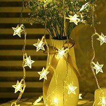 Fairy Lights Battery Powered Stars String Lights