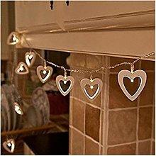 Fairy Lights LED Creative Wooden Heart Love String