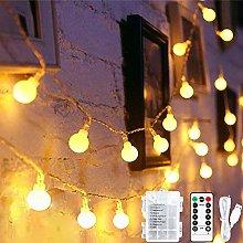 Fairy String Lights, 45 ft 80 LED Globe Fairy