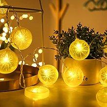 Fairy String Lights with Lemon Decor, Battery