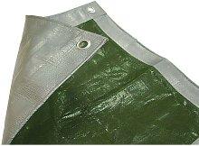FAITARP129 Tarpaulin Green and Silver 3.6m x 2.7m