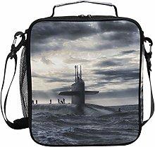 FAJRO Submarine On Dark Sea Lunch Tote Bag
