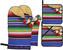 FAKAINU Oven Mitts and Pot Holders 4pcs