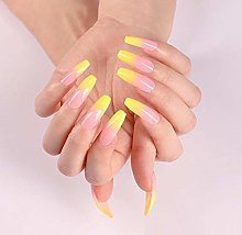 Fake Nails 24pcs Classic Simple Yellow Gradient